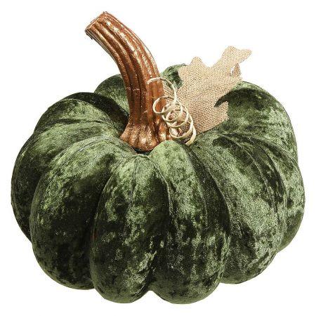 Βελούδινη κολοκύθα Πράσινη 30cm