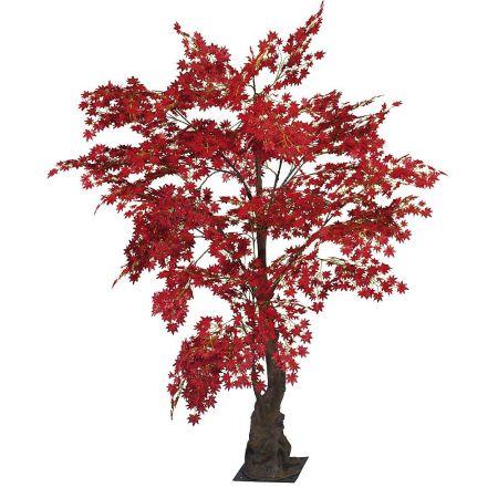 Τεχνητό δέντρο Σφένδαμος με κόκκινα φύλλα 240cm