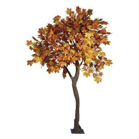 Τεχνητό δέντρο Σφένδαμος με πορτοκαλί φύλλα 270cm
