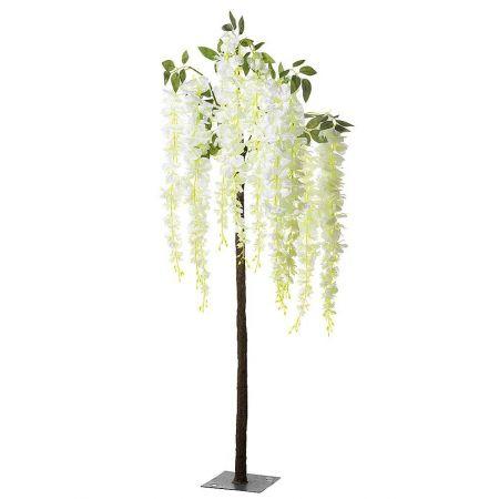 Τεχνητό δέντρο Γλυκίνη με Λευκά άνθη 135cm