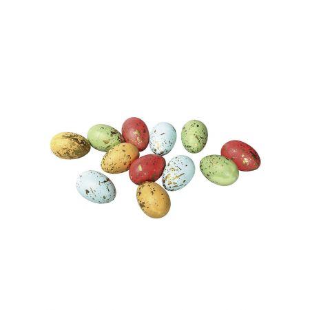 Σετ 12τχ Πασχαλινά αυγά πολύχρωμα 6cm