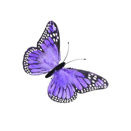 Διακοσμητική πεταλούδα μώβ , 54x37 cm