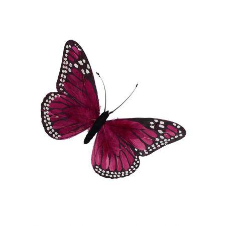 Διακοσμητική πεταλούδα Ροζ 30x18cm