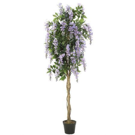 Τεχνητό δέντρο Λαβούρνο με Λιλά άνθη σε γλάστρα 180cm