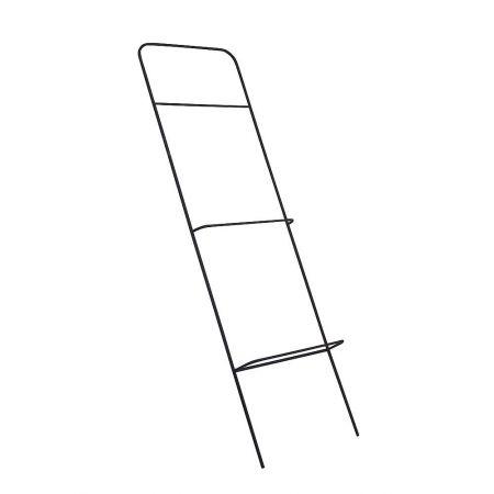 Μεταλλικό σταντ - σκάλα με 5 γάντζους Μαύρο 140x40x10cm