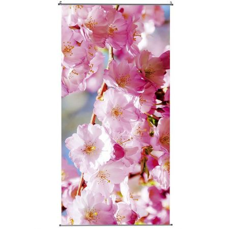 Διακοσμητική αφίσα από ύφασμα - Cherry blossoms - 100x200cm