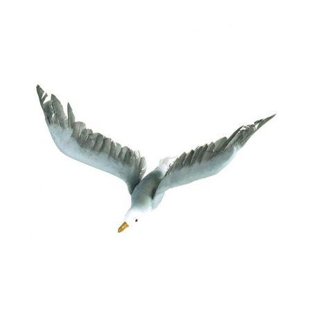 Διακοσμητικός γλάρος που πετάει Λευκό - Γαλάζιο 60x30cm