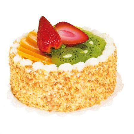 HQ Διακοσμητική τούρτα με φρούτα 16x14cm
