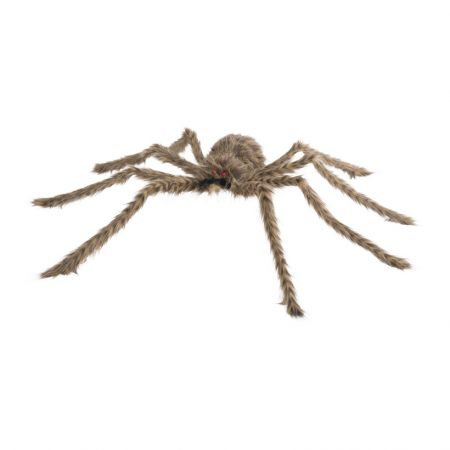 XL Διακοσμητική τριχωτή αράχνη Καφέ 90cm