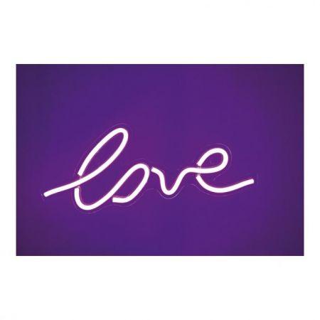Φωτιζόμενη επιγραφή -love- LED neon flex IP20 45x18cm