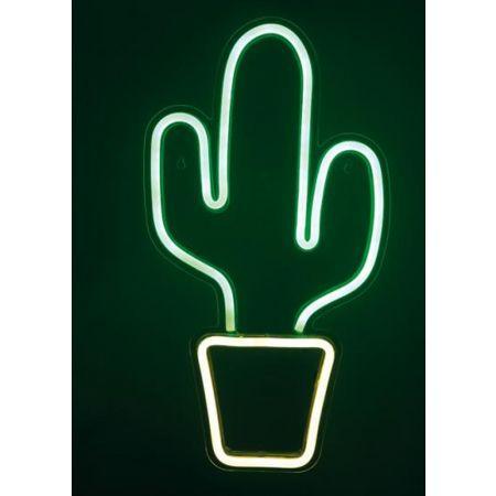 Φωτιζόμενη επιγραφή - κάκτος LED neon flex IP20 26x47cm