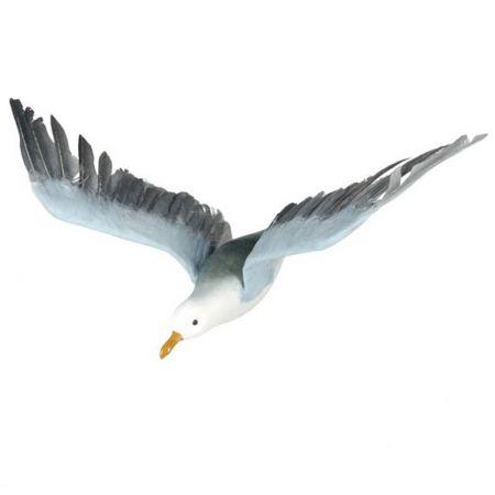 Διακοσμητικός γλάρος που πετάει Λευκό - Γαλάζιο 75x35cm