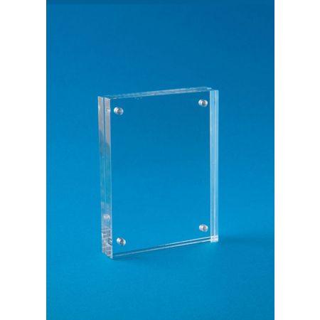 Σταντ εντύπων - τιμών Plexiglass με μαγνήτες 9cmx11.5cm