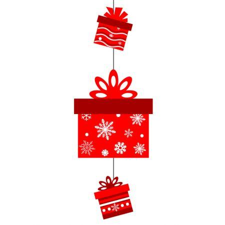 Διακοσμητική Χριστουγεννιάτικη χάρτινη γιρλάντα με δώρα 60x25cm