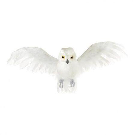 Διακοσμητική κουκουβάγια που πετάει Λευκή 55x30cm