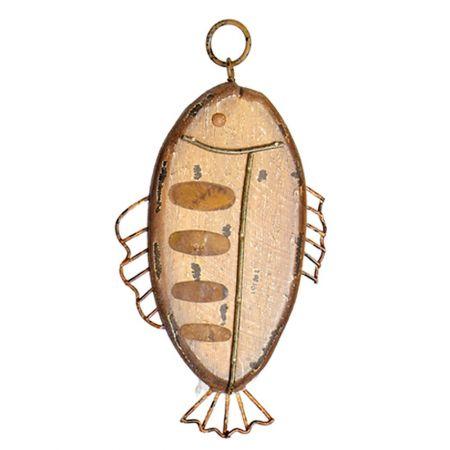 Διακοσμητικό κρεμαστό ψάρι ξύλινο 23x13cm