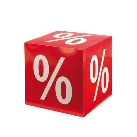 Διακοσμητικός κύβος με την επιγραφή % 32cm