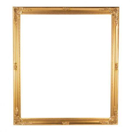 Διακοσμητική ξύλινη κορνίζα χρυσή 80x90cm