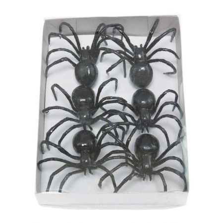 Σετ 6τχ μίνι αράχνες 8x7cm