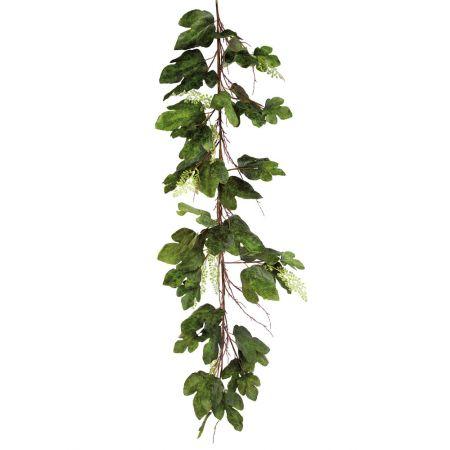 Διακοσμητική γιρλάντα με φύλλα Καστανιάς Πράσινη 200cm