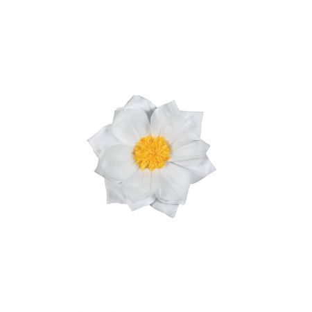 XL διακοσμητικό Χάρτινο άνθος Λευκό 30cm
