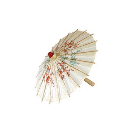 Διακοσμητική Χάρτινη ομπρέλα με σχέδια Λευκή 40x30cm