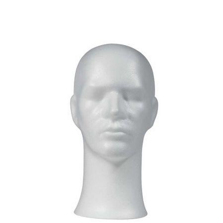 Διακοσμητικό Κεφάλι ανδρικό Λευκό 33x57cm