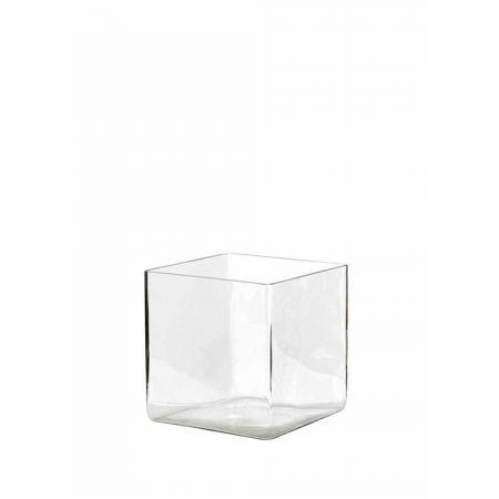 Διακοσμητικό Βάζο-Μπολ Tετράγωνο 20x20x20cm,