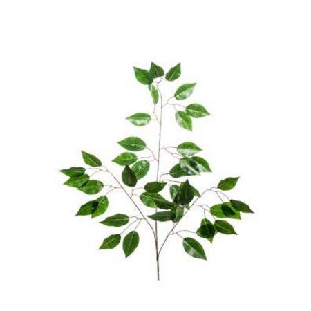 Διακοσμητικό κλαδί με φύλλα Φίκου 65cm