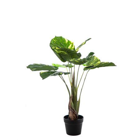 Διακοσμητικό τεχνητό φυτό πλατύφυλλο σε γλάστρα 80cm