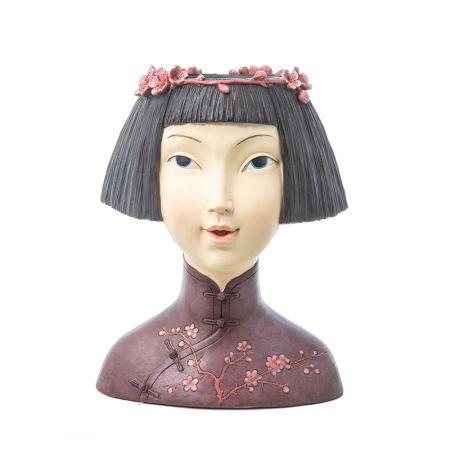 Κεφάλι - Bάζο Ιαπωνέζας 27x21.5x35.5cm