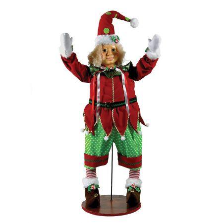 Χριστουγεννιάτικη διακοσμητική κούκλα - Αρλεκίνος 100cm