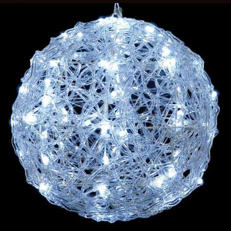 Φωτιζόμενη μπάλα ακρυλική 120LED Λευκό LED 50cm
