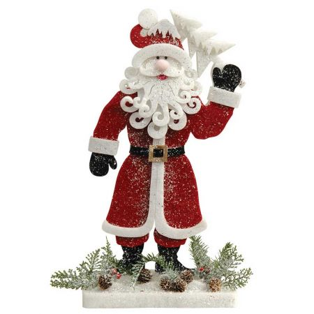 Διακοσμητικός Άγιος Βασίλης με δεντράκι 48x8x90cm