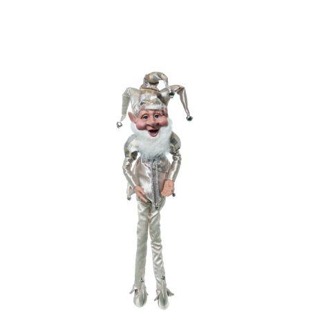 Χριστουγεννιάτικο ξωτικό - αρλεκίνος Σαμπανί 80cm