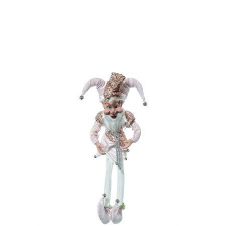 Χριστουγεννιάτικο ξωτικό - αρλεκίνος Ροζ 66cm