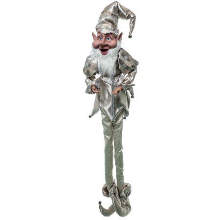 Χριστουγεννιάτικο ξωτικό - αρλεκίνος Σαμπανί 120cm