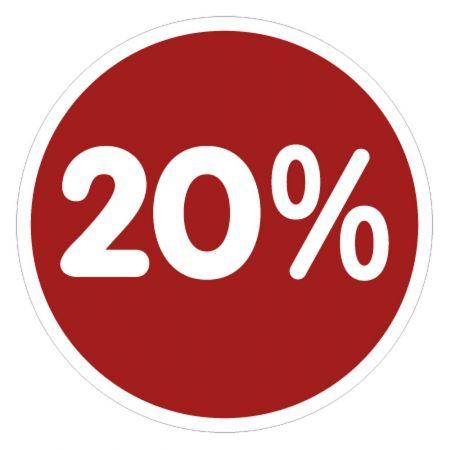 Αυτοκόλλητο για τις εκπτώσεις 20% , 33cm