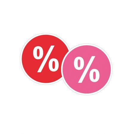 Κρεμαστά Ποσοστά κόκκινο και ρόζ , 48cm