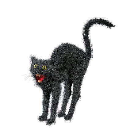 Διακοσμητική μαύρη γάτα 30cm