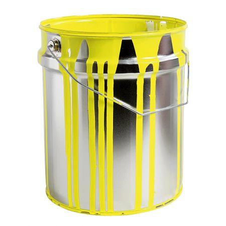 Διακοσμητικός κουβάς από μπογιά Κίτρινη 30x23cm