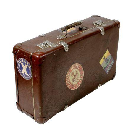 Διακοσμητική γνήσια Vintage βαλίτσα ταξιδίου