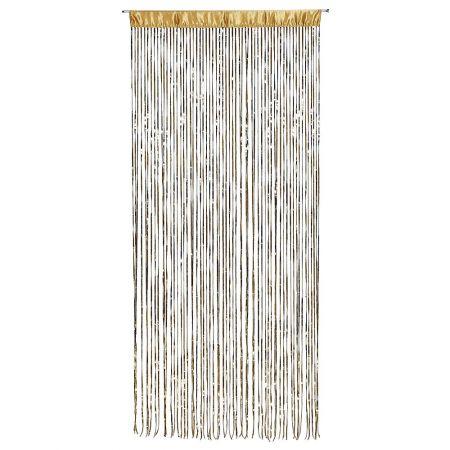 Διακοσμητική κουρτίνα με παγιέτες χρυσή 100x250cm