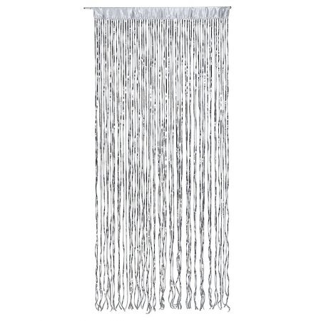 Διακοσμητική κουρτίνα με παγιέτες Ασημί 100x250cm
