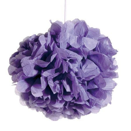 Διακοσμητική κρεμαστή μπάλα - λουλούδι, Λιλά 50cm