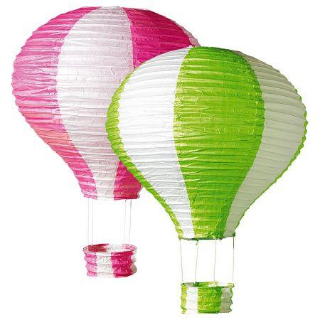 Σετ 2 τεμαχίων διακοσμητικά αερόστατα 40x60 cm