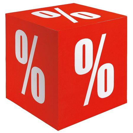 Διακοσμητικός κύβος με εκτύπωση %, 10cm
