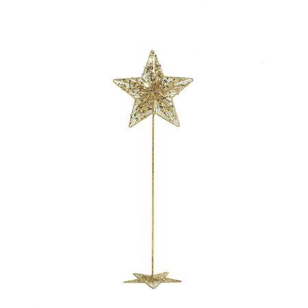 Χριστουγεννιάτικο μεταλλικό αστέρι με σταντ Χρυσό 100cm
