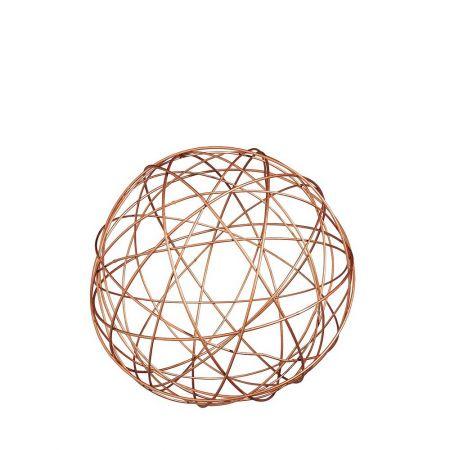 Διακοσμητική μεταλλική τρισδιάστατη μπάλα 20 cm
