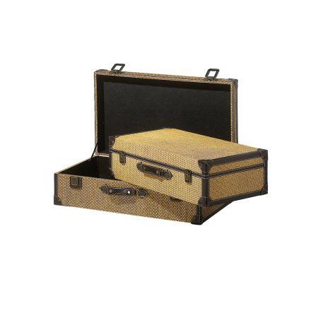 Σετ 2τμχ. Διακοσμητικές Βαλίτσες 58x32x16cm - 65x37x19cm